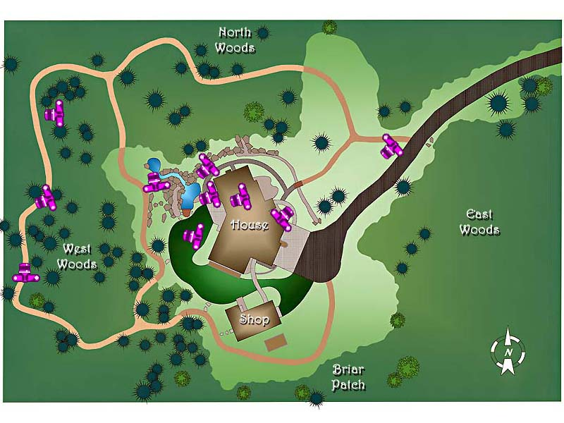 Plan View of Stoy Garden with Fall Photo Locations
